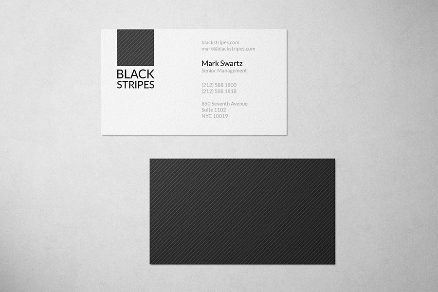 Black Stripes Society Business Card