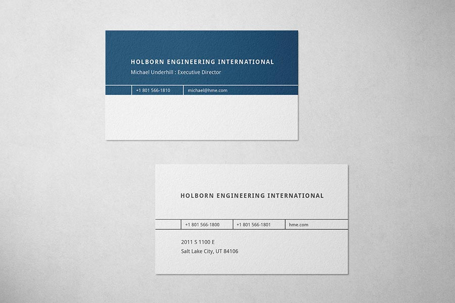 Holborn Engineering Business Card