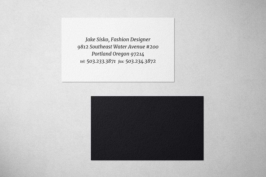 Black Fashion Business Card