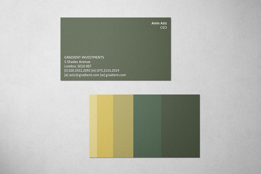 Gradient Investments Business Card
