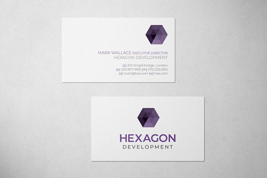 Hexagon Development Business Card