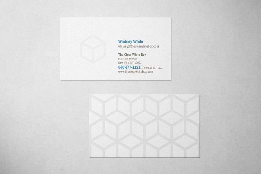 White Box Productions Business Card