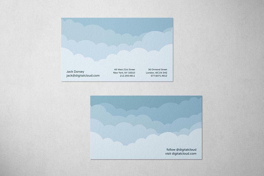 Digital Cloud Business Card