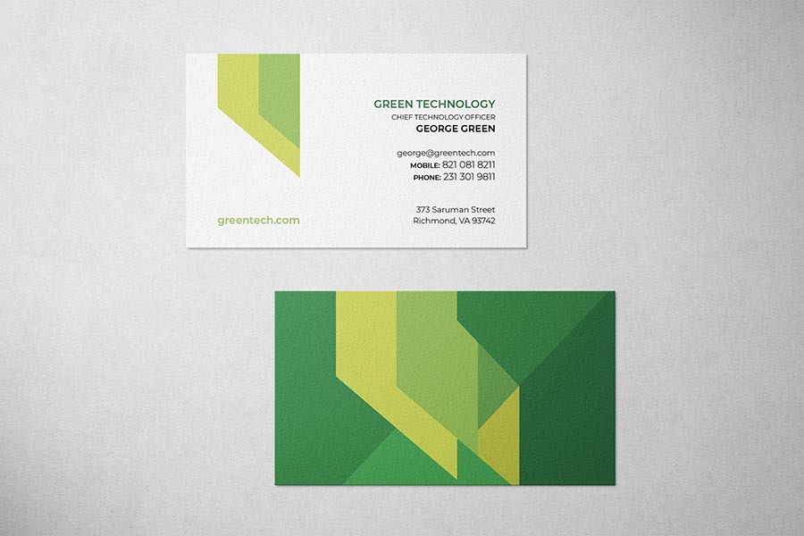 Green Technology Business Card