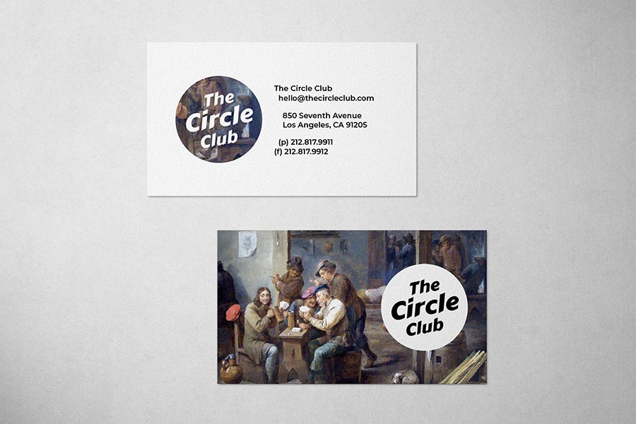 The Circle Club Business Card