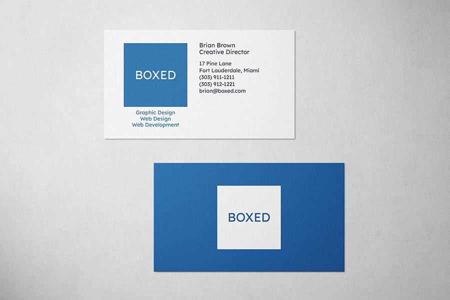 Boxed Design Business Card