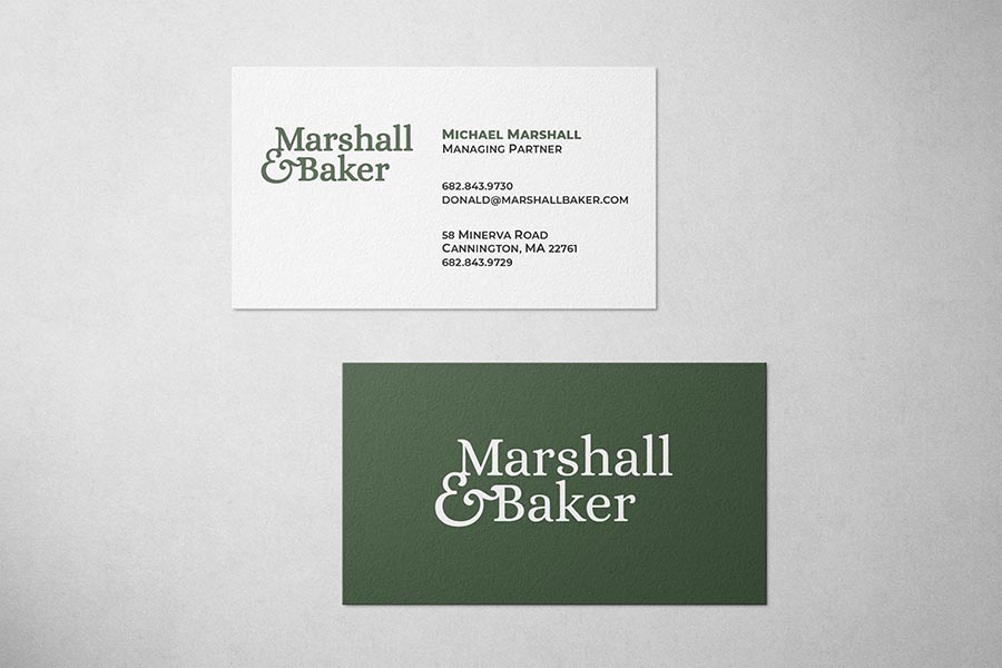 Marshall & Baker Business Card
