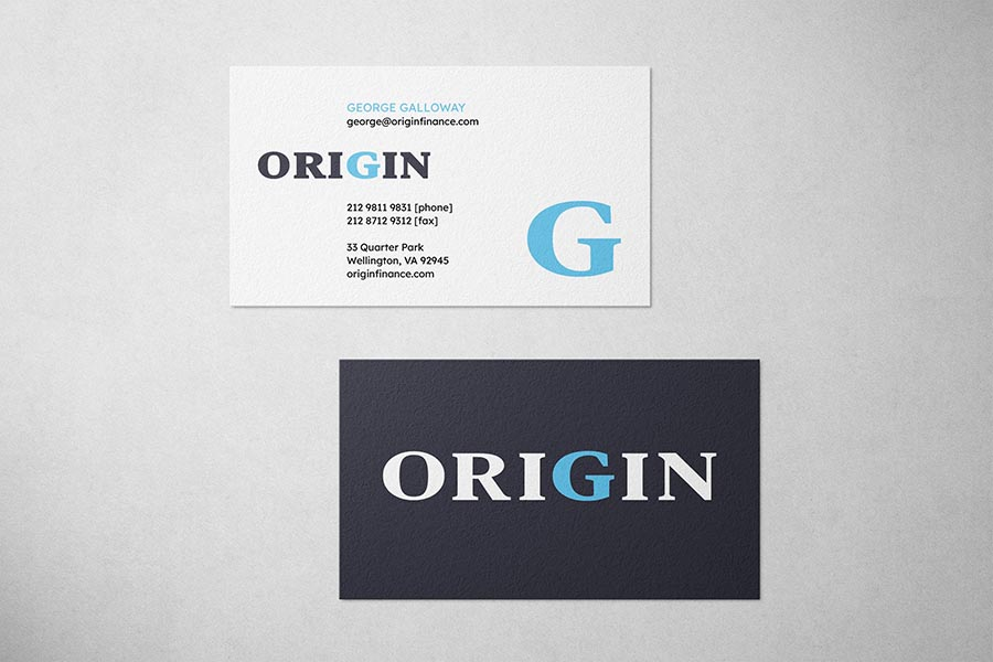 Origin Finance Business Card