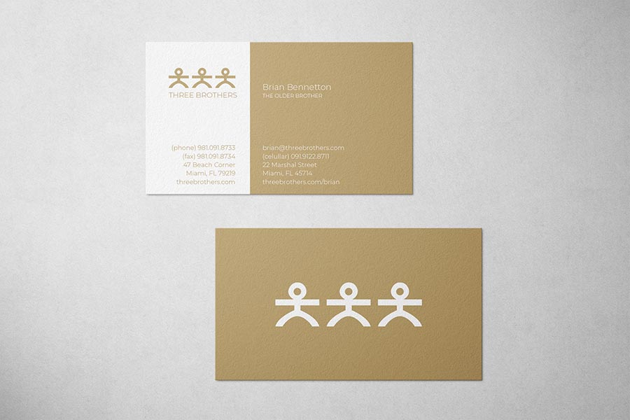 Three Brothers Law Business Card